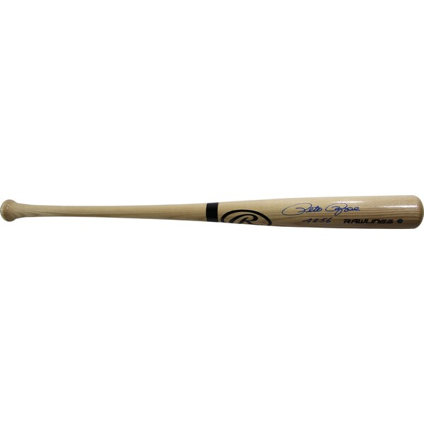 "Pete Rose Signed Rawlings Blonde Big Stick Full Size Bat w/ ""4256"" Insc"