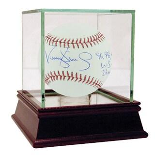 "Darryl Strawberry MLB Baseball w/ ""96, 98, 99 WS Champs"""