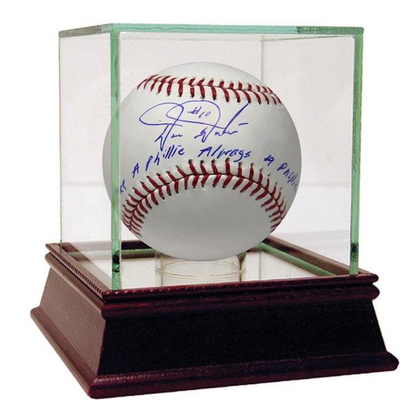Darren Daulton Signed MLB Baseball w/ Once a Phillie Always a Phillie Insc