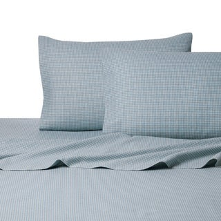 La Rochelle Gingham Heather Flannel Sheet Set