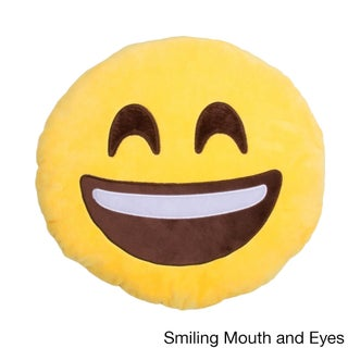 Emoji Pillows - 7 Faces - Smiling, Kiss, Laughing, Heart, Crazy, Sunglasses and Poop