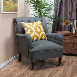 Randle Haven Tufted Fabric Club Chair by Christopher Knight Home