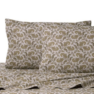 La Rochelle Heathered Flannel Paisley Cotton Sheet