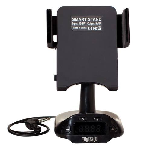 Sondpex Hands free Kit and FM Transmitter with USB Charger - Black