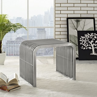 Pipe Stainless Steel Small Bench