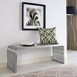 Pipe Stainless Steel Medium Bench