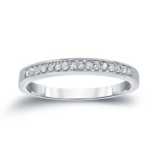 Auriya 14k White Gold 1/5ct TDW Round Cut Diamond Ring
