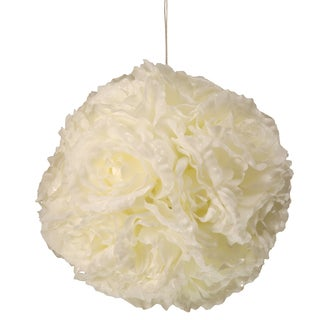8.75-inch Glittered Rose Hanging Ball