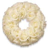 16.5-inch Glittered Rose Wreath