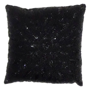 Celebration Peacock Beaded Pillow