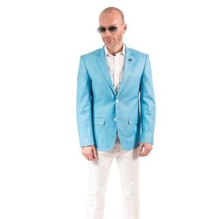 Elie Balleh Men's Milano Italy Cotton Slim Fit Blazer XXXL in Cobalt (As Is Item)