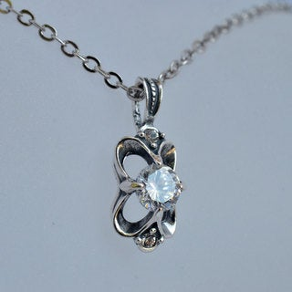 Silverplated 'Fayus' Pendant with Cubic Zirconia