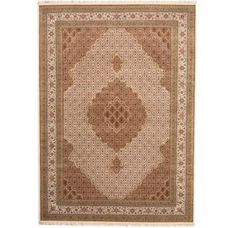 Herat Oriental Indo Hand-knotted Tabriz Wool & Silk Rug (9'2 x 11'6)