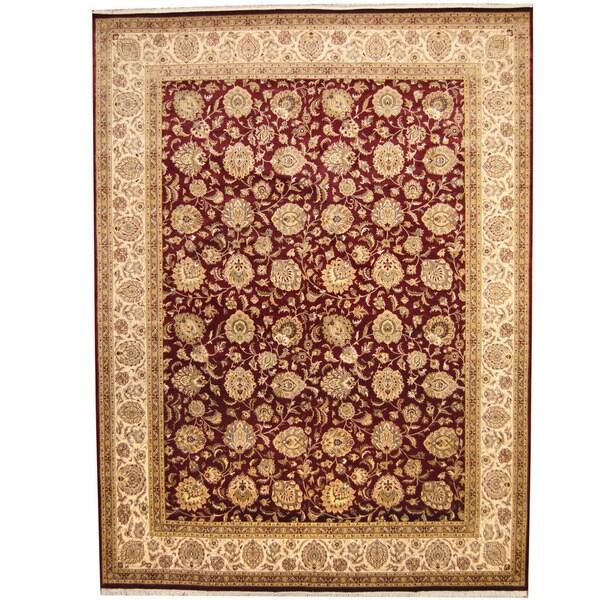 Herat Oriental Pakistani Hand-knotted Kashan Wool Rug - 9'2 x 12'3
