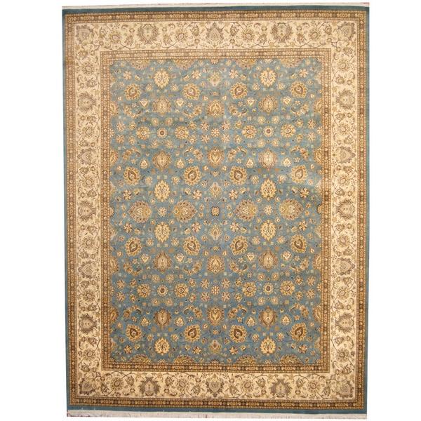 Herat Oriental Pakistani Hand-knotted Kashan Wool Rug (9'2 x 12'2) - 9'2 x 12'2