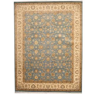 Herat Oriental Pakistani Hand-knotted Kashan Wool Rug (9'2 x 12'2)