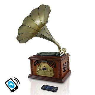 Pyle PTCDCS32BT Retro Vintage Classic Style Bluetooth Turntable Phonograph Record Player