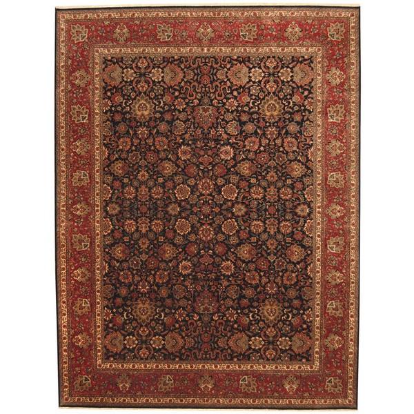 Handmade Herat Oriental Indo Kashan Wool Rug - 9' x 11'9 (India)