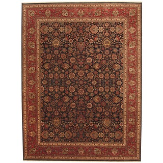 Herat Oriental Indo Hand-knotted Kashan Wool Rug (9' x 11'9)