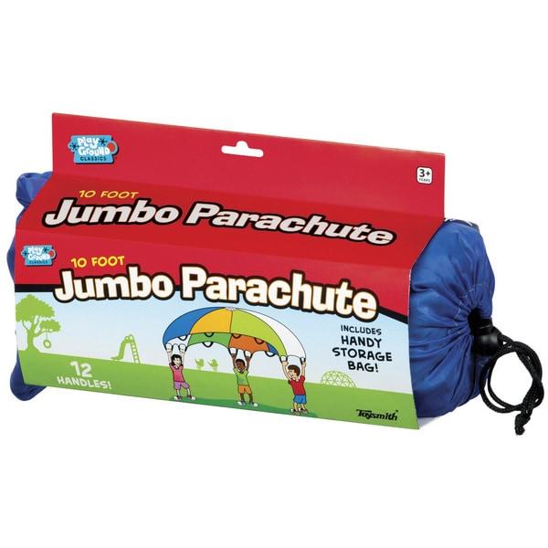 Toysmith 10' Jumbo Parachute - 10 Foot Diameter. Opens flyout.