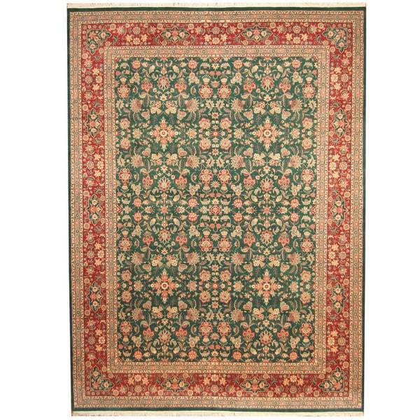 Herat Oriental Pakistani Hand-knotted Kashan Wool Rug (9' x 12'3) - 9' x 12'3