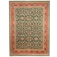 Handmade Herat Oriental Pakistani Kashan Wool Rug  - 9' x 12'3 (Pakistan)