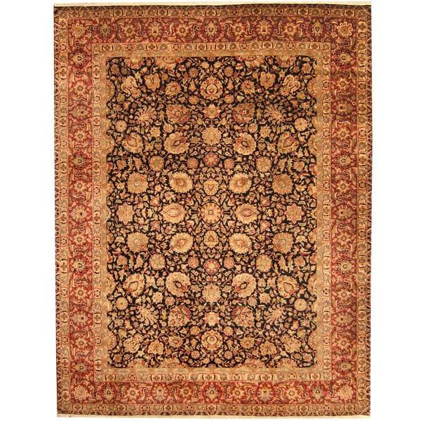 Herat Oriental Indo Hand-knotted Kashan Wool Rug (9' x 12') - 9' x 12'