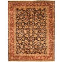 Handmade Herat Oriental Indo Kashan Wool Rug  - 9' x 12' (India)