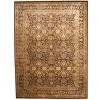Herat Oriental Indo Hand-knotted Kashan Wool & Silk Rug (9' x 12'2) - 9' x 12'2