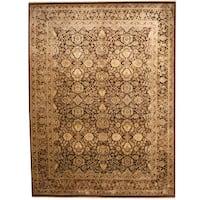 Handmade Herat Oriental Indo Kashan Wool & Silk Rug  - 9' x 12'2 (India)