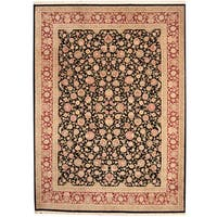 Handmade Herat Oriental Indo Kashan Wool & Silk Rug  - 9' x 12' (India)