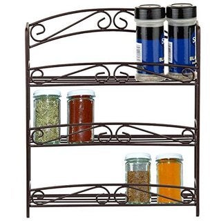 Home Basics Rust Resistant 3-tier Spice Rack