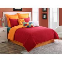 Dash Scarlet/ Tangerine Solid Color Euro Sham by Fiesta