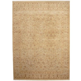 Herat Oriental Indo Hand-knotted Kashan Wool Rug (9' x 12')