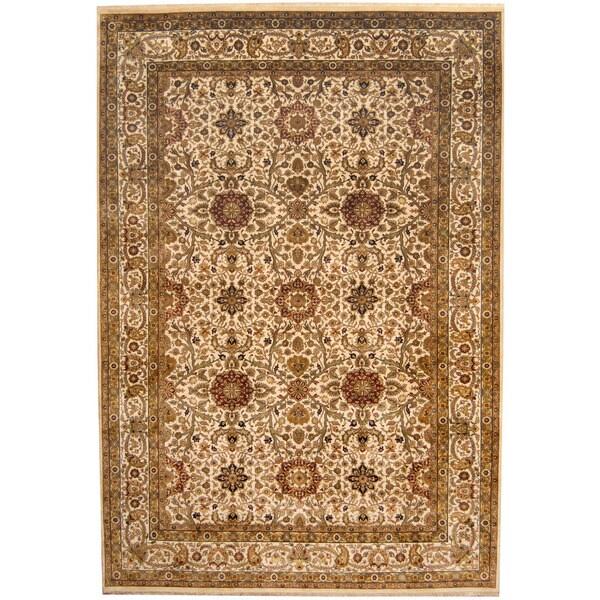 Handmade Herat Oriental Indo Sarouk Wool Rug (India) - 8' x 11'7
