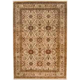 Herat Oriental Indo Hand-knotted Sarouk Wool Rug (8' x 11'7)