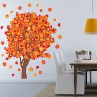 Orange Blossom Tree Floral Wall Decal Sticker Mural Vinyl Wall Art
