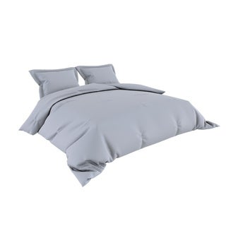 Silver Grey Greek Key Embossed Microfiber Plush Comforter Set