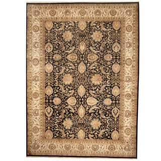 Herat Oriental Indo Hand-knotted Kashan Wool Rug (9' x 12')