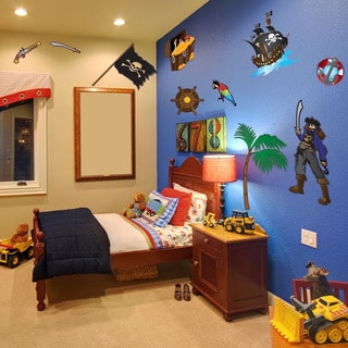 Colorful Pirate Set Nursery Boys Wall Decal Sticker Mural Vinyl Wall Art