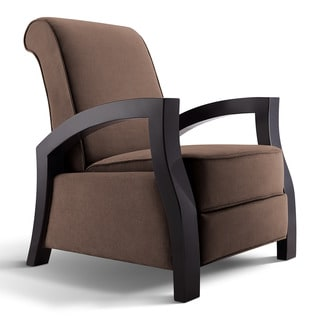 Artiva USA 'Kuta' Solid Wood Java Black and Premium Chocolate Microvelvet Recliner