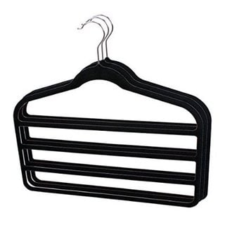Sunbeam Ultra Slim Space Saving Multi Tier Velvet Trouser Hangers (Pack of 3)