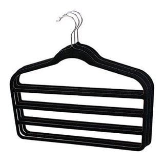 Sunbeam Ultra Slim Space Saving Multi Tier Velvet Trouser Hangers (Pack of 3)