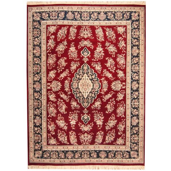 Handmade Herat Oriental Indo Sarouk Wool Rug (India) - 8'9 x 11'10