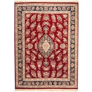 Herat Oriental Indo Hand-knotted Sarouk Wool Rug (8'9 x 11'10)