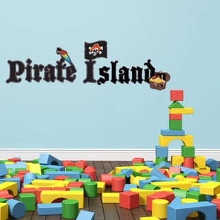 Pirate Island Nursery Boys Wall Decal Sticker Mural Vinyl Decor Wall Art