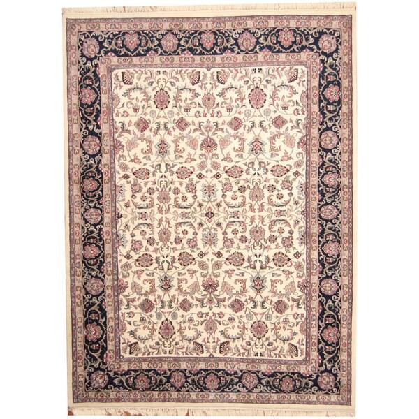Herat Oriental Indo Hand-knotted Kashan Wool Rug (8'6 x 11'8) - 8'6 x 11'8