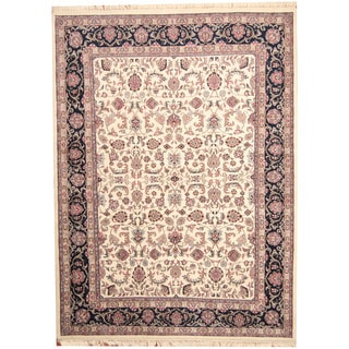 Herat Oriental Indo Hand-knotted Kashan Wool Rug (8'6 x 11'8)