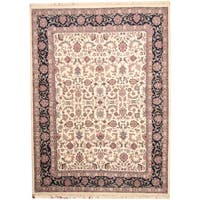 Herat Oriental Indo Hand-knotted Kashan Wool Rug (8'6 x 11'8) - 8'6 x 11'8