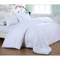 Laurel Creek Ainsley Embossed White Microfiber Plush Comforter Set